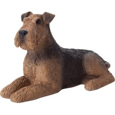 Small Size Sculptures Airedale Terrier Figurine