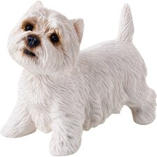 Small Size Sculptures West Highland Terrier Figurine