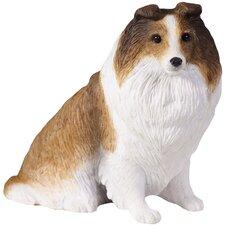 Small Size Sculptures Sable Shetland Sheepdog Figurine