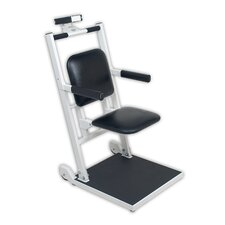 Digital Chair Scale with Flip Up Seat and Arm Rests with Concealed Wheels