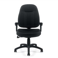 Mid-Back Fabric Office Chair with Arms