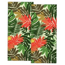 Palm Paradise Print Dishtowel (Set of 2)