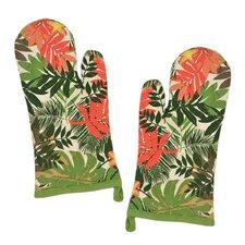 Palm Paradise Print Oven Mitt (Set of 2)