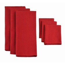 6 Piece Heavyweight Dishtowel and Dishcloth Set