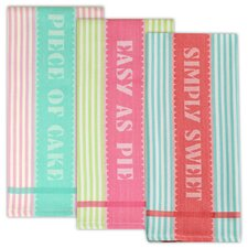 3 Piece Sweet Shoppe Jacquard Dishtowel Set