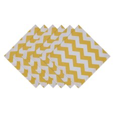 Lemonade Stand Snapdragon Chevron Printed Napkin (Set of 6)