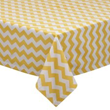 Lemonade Stand Snapdragon Chevron Table Cloth