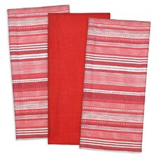 3 Piece Urban Stripe Dishtowel Set