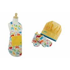 Cotton Children's Apron and Chef Gift Set