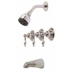 Wellington Tub and Shower Faucet with Lever Handles