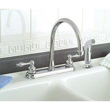 Wellington Double Handle Kitchen Faucet with Sprayer