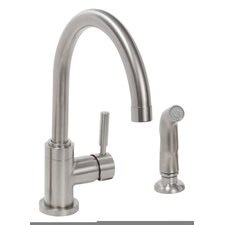 Essen™ Single Handle Kitchen Faucet with Side Spray Optional Deck Plate