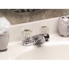 Bayview Centerset Bathroom Faucet with Double Knob Handles