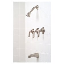Sanibel Three-Handle Volume Control Tub and Shower Faucet