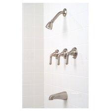 Sanibel Three-Handle Volume Control Tub and Shower Faucet