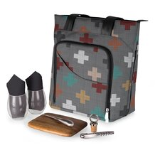 Pixels 9 Piece Sonoma Wine and Cheese Tote Set