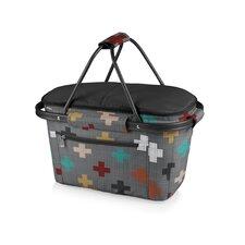 Pixels Market Basket Collapsible Tote