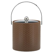 San Remo Pinecone Design 3 Qt Ice Bucket with Metal Cover