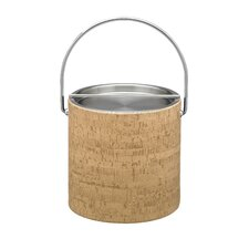 Natural Cork 3 qt. Ice Bucket with Metal Bar Cover