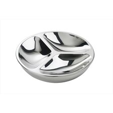 Polished Stainless Steel Insulated Three Section Tray