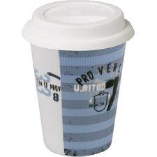 4-tlg. Kaffeebecher Vintage Pro Vince - Traveler's