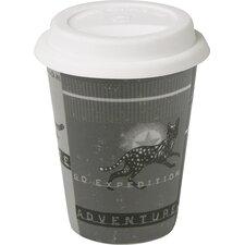 "4-tlg. Kaffeebecher ""Vintage Adventure - Traveler's"""