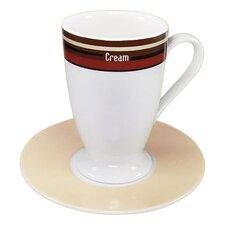 "4-tlg. Irish-Kaffeetassne No.7 Set ""Coffee Stripes"" aus Porzellan"