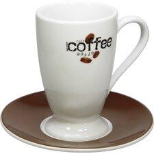 "4-tlg. Irish-Kaffeetassen No.7 Set ""Coffee Collage"" aus Porzellan"
