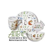 3-tlg. Kindergeschirr ABC aus Porzellan