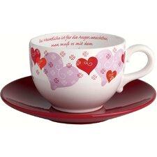 2-tlg. 2-tlg. Teeservice Liebe aus Porzellan