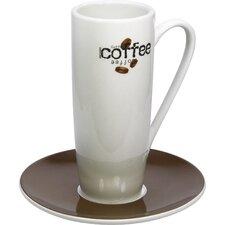 "4-tlg. Latte Macchiato-Tassen No.5 Set ""Coffee Collage"" aus Porzellan"