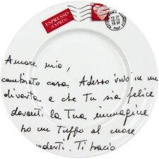 """20,6cm Teller No.12 """"Amore mio"""" mit Fahne (4er Pack)"""