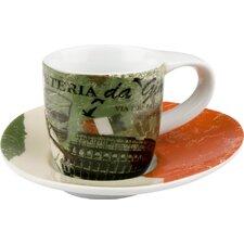 4-tlg. Teeservice Coffee to go aus Porzellan