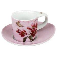 4-tlg. Teeservice Blumiges aus Porzellan