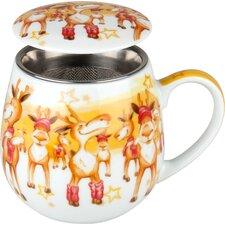8.9 cm Tea for you Merry Christmas-Weihn.party aus Porzellan