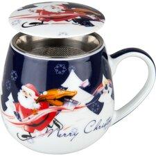 8,9 cm Tea for you Merry Christmas-Weihnachtselch aus Porzellan