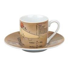 2-tlg. Espresso-Tassen-Set Physics