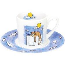 4-tlg. 2-tlg. Espressotassen-Set Cat by Day