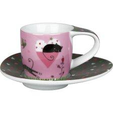4-tlg. 2-tlg. Espressotassen-Set Miss Sandman