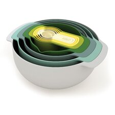 Nest™ 9 Piece Plastic Mixing Bowl/Measuring Spoon Set