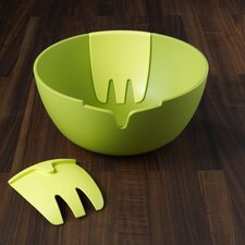 """Hands-On 11"""" Salad Bowl and Servers"""
