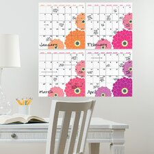 WallPops Dry-Erase 4 Piece Calendar Whiteboard Wall Decal Set