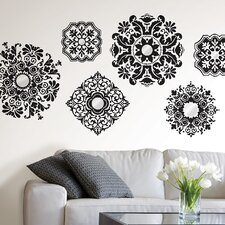 WallPops Kits 6 Piece Baroque Wall Decal Set