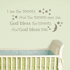 Baby I See the Moon Wishes Wall Decal