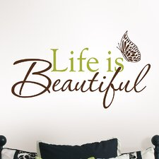 Wall Art Kit Life is Beautiful Phrases Wall Decal