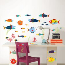 Wall Art Kit Fish Tales Wall Decal