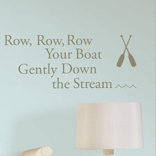 Baby Row Your Boat Nursery Rhyme Wall Decal