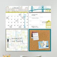 Wall Art Kit Globe Trotter Organization Whiteboard Wall Decal
