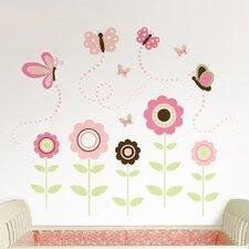 Wall Art Kit Butterfly Garden Wall Decal