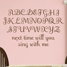 Baby Espresso Script Wall Decal